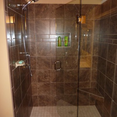 Custom shower remodel 23