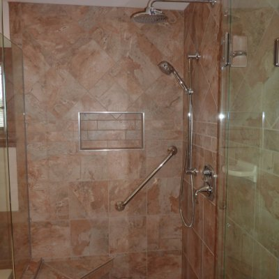 Custom shower remodel 24