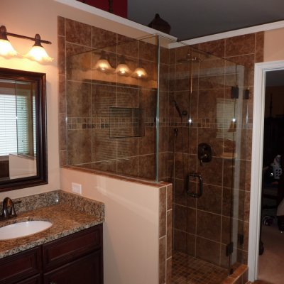 Custom shower remodel 25
