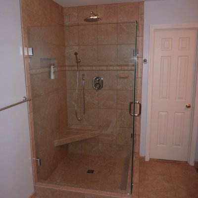 Custom shower remodel 27