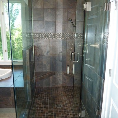 Custom shower remodel 28