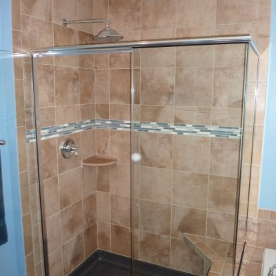 Custom shower remodel 33