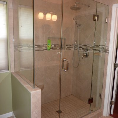 Custom shower remodel 35