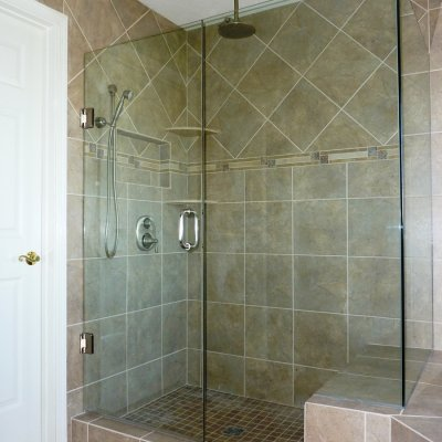 Custom shower remodel 36