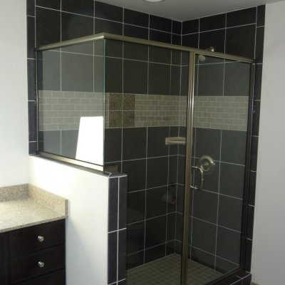 Custom shower remodel 38